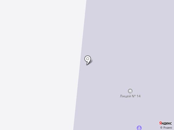Лицей №14 на карте Зеленодольска