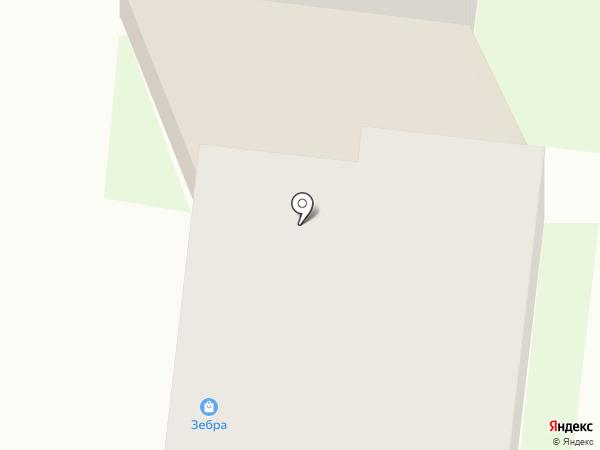 Зебра на карте Зеленодольска