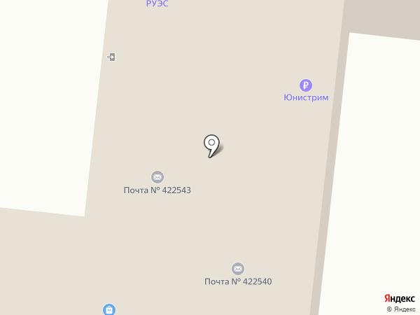 Таттелеком на карте Зеленодольска