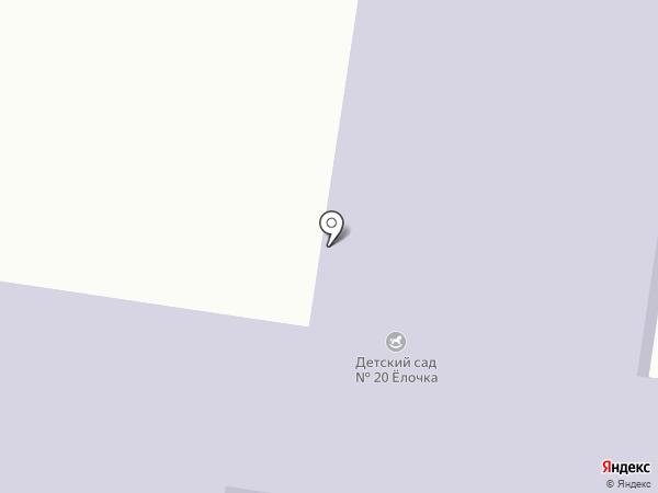 Детский сад №20, Елочка на карте Зеленодольска
