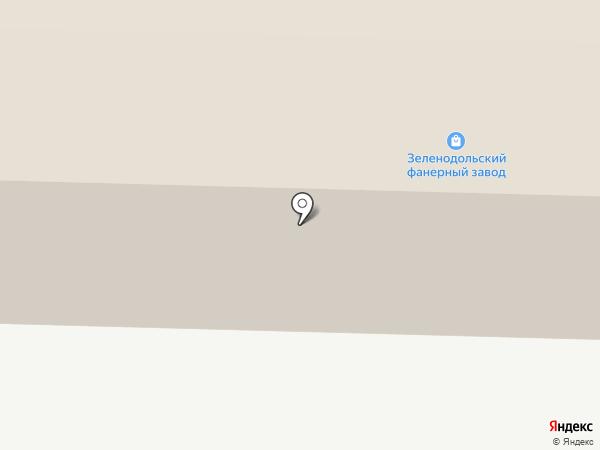 Зеленодольский фанерный завод на карте Зеленодольска