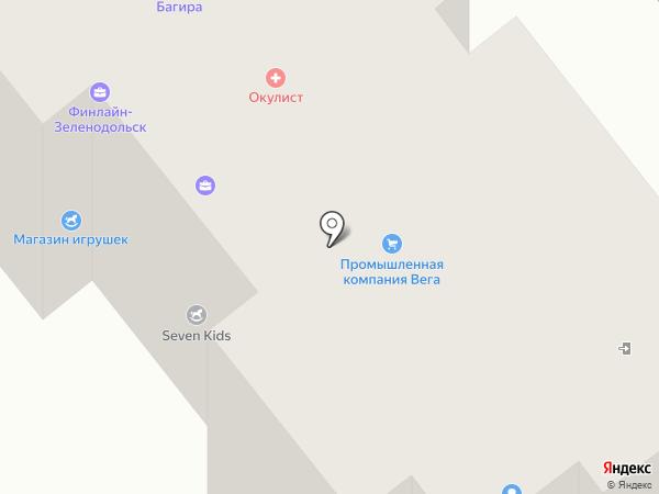 Офтальмологический кабинет на карте Зеленодольска