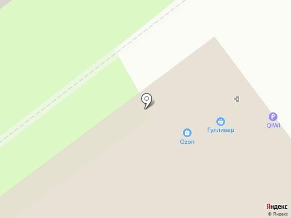 Гулливер на карте Ульяновска