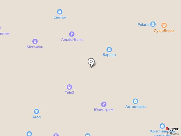 Фростини на карте Ульяновска