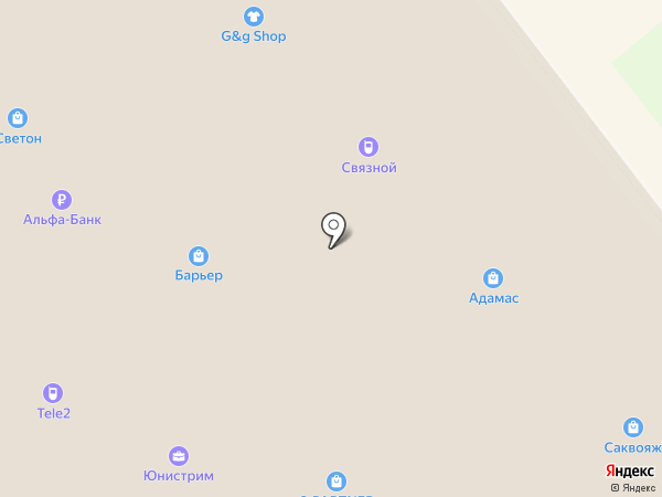 Адамас на карте Ульяновска