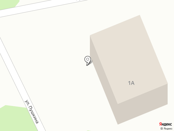 Продуктовый магазин на ул. Пушкина на карте Васильево