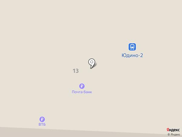 Юдино на карте Казани