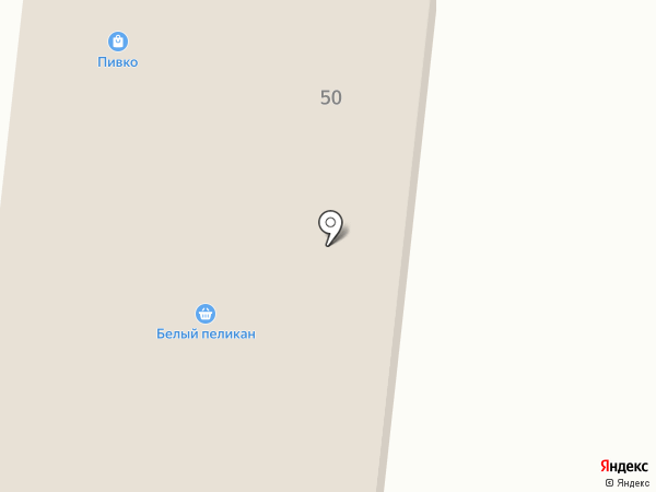 Пеликан на карте Ягодного