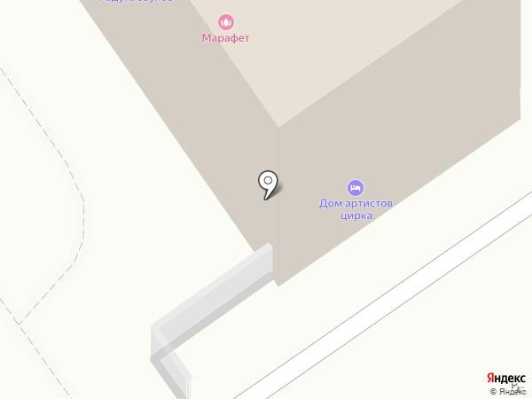 Енот на карте Казани