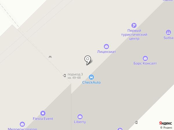 Галеон на карте Казани