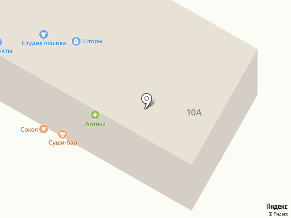 География на карте Песчаных Ковалей