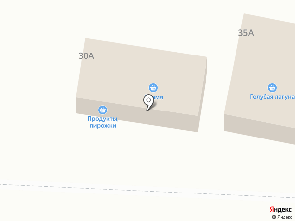 Голубая лагуна на карте Переволок