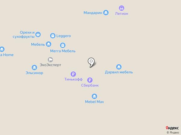 Мебельный салон на карте Казани