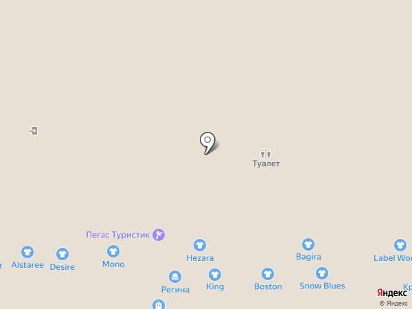 Нежен на карте Казани