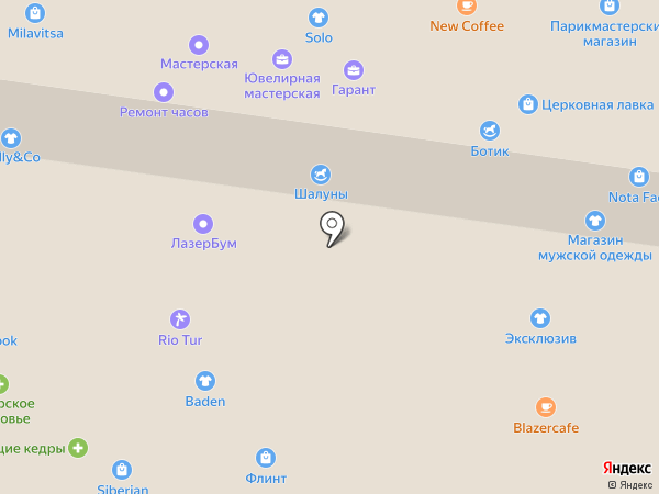 Шалуны на карте Тольятти