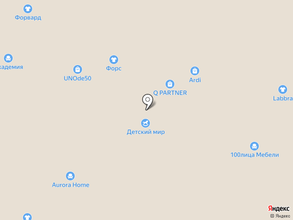 Форс на карте Тольятти