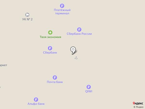 Елисейский на карте Тольятти