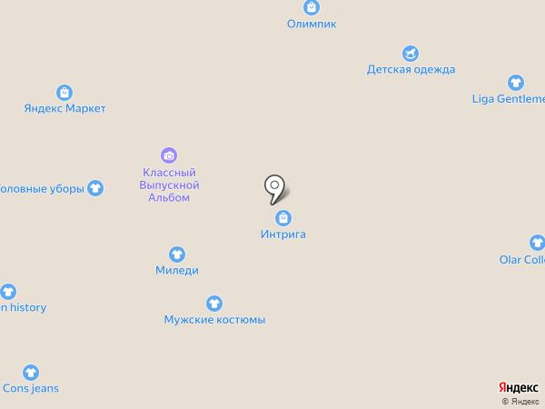 Магазин мужской одежды больших размеров на карте Тольятти