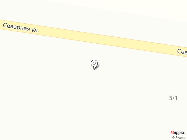 Продуктовый магазин на Северной на карте Русской Борковки