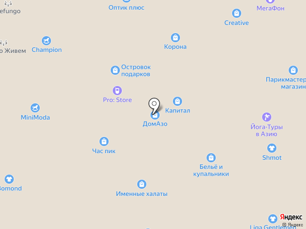 Kinderino на карте Тольятти
