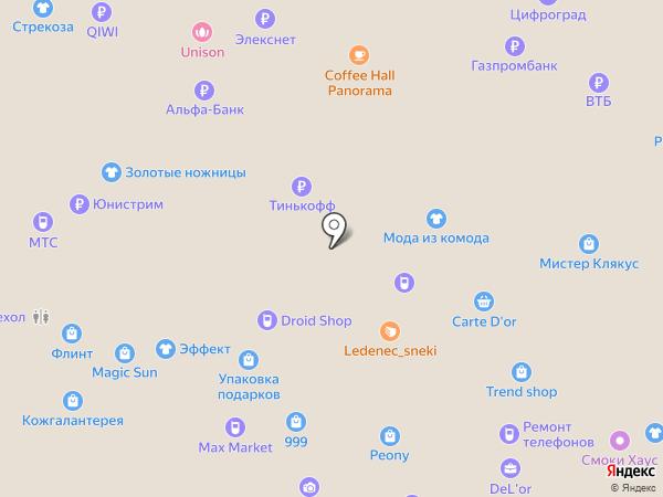 Эффект на карте Тольятти
