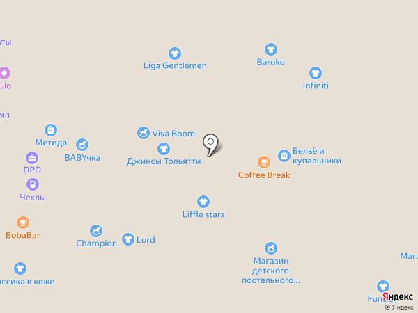 Обувная полка на карте Тольятти