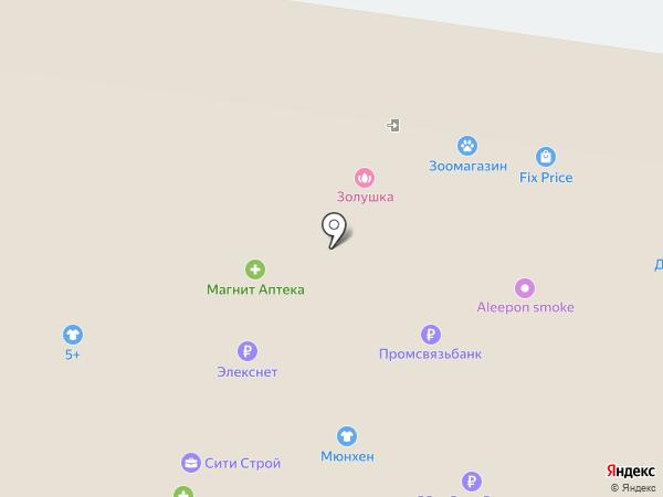 Магазин тканей и швейной фурнитуры на карте Тольятти