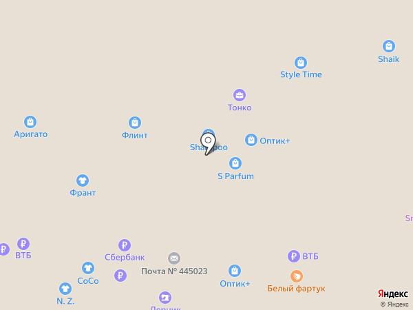 Магазин головных и шейных уборов на карте Тольятти