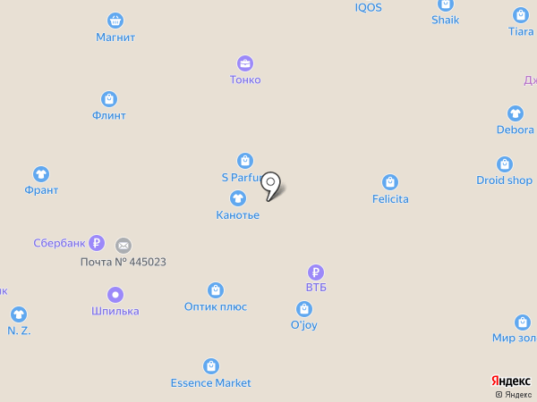 Vipera Cosmetics на карте Тольятти