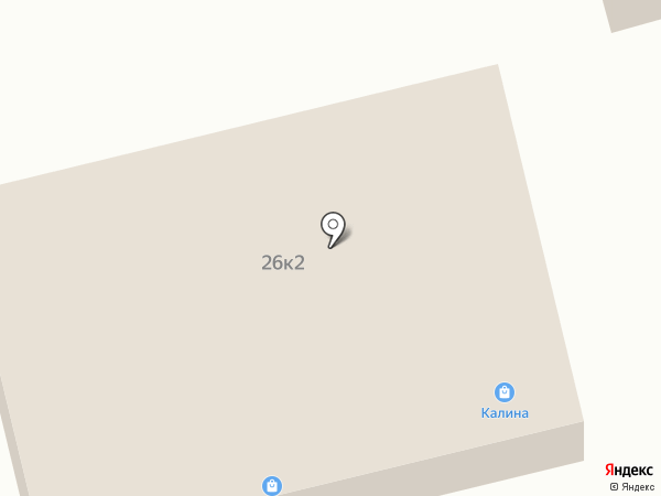 Калина на карте Калинино