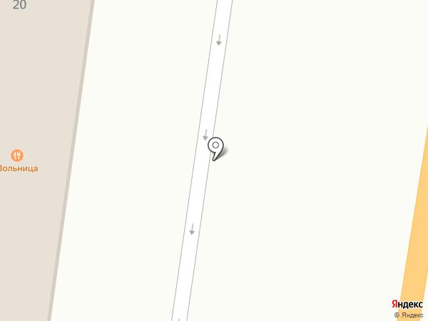 Вольница на карте Жигулёвска