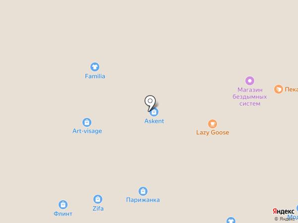 Перекресток на карте Тольятти