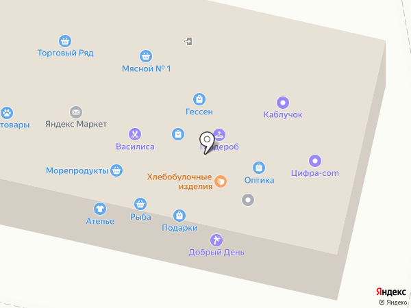 Мясной №1 на карте Тольятти