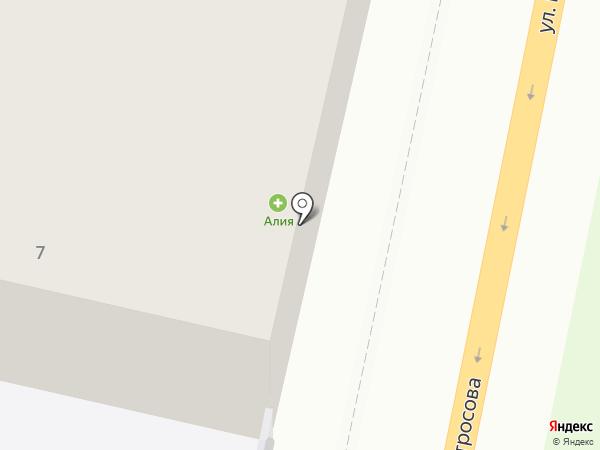 Алия на карте Тольятти