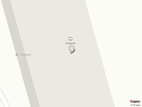 Санита на карте Жигулёвска