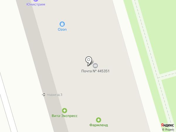 Соточка на карте Жигулёвска