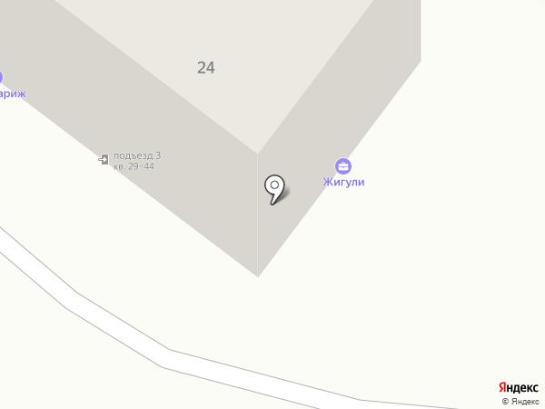Жигули на карте Жигулёвска