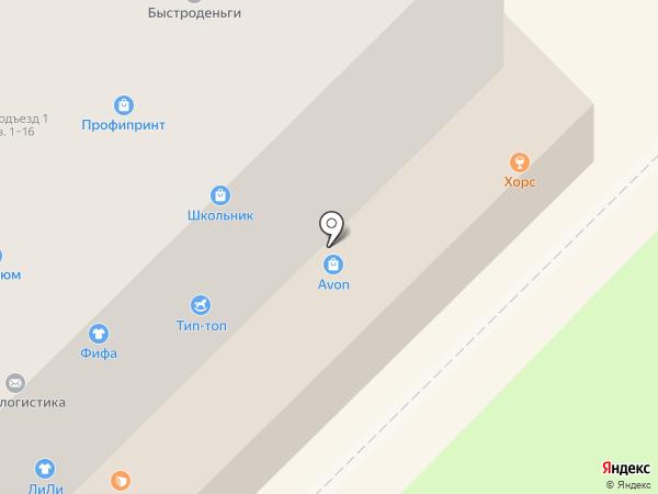 Красотка на карте Кирова