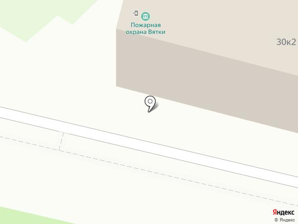 Пожарная охрана Вятки на карте Кирова
