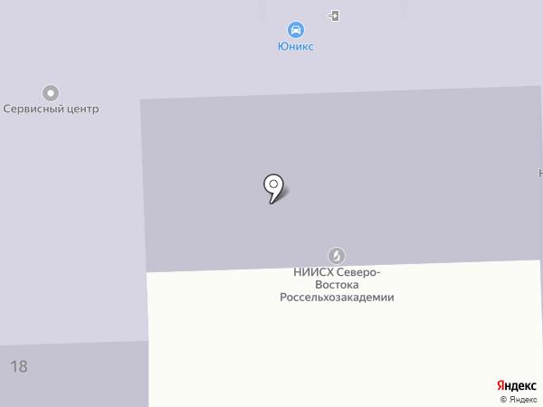 Авто под такси на карте Кирова