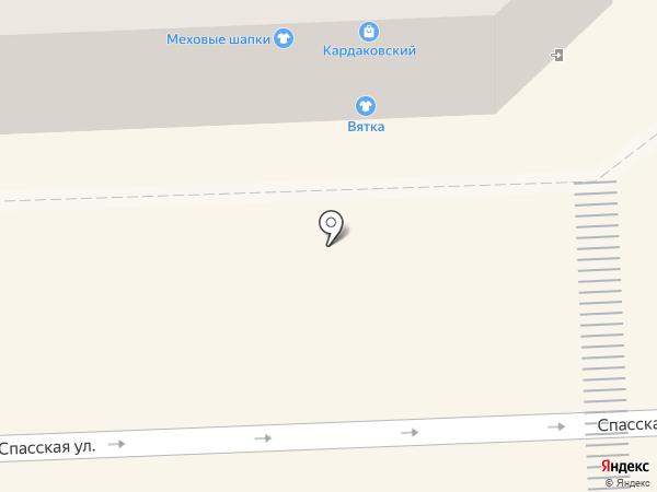 Магазин меховых шапок на карте Кирова