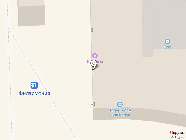 Магазин женской и детской одежды на карте Кирова