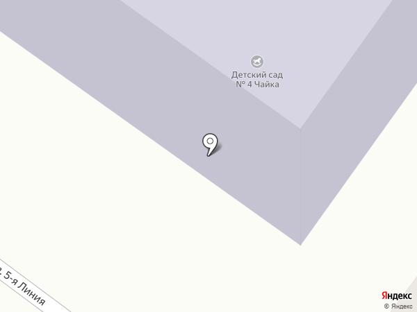 Чайка на карте Солнечной Поляны