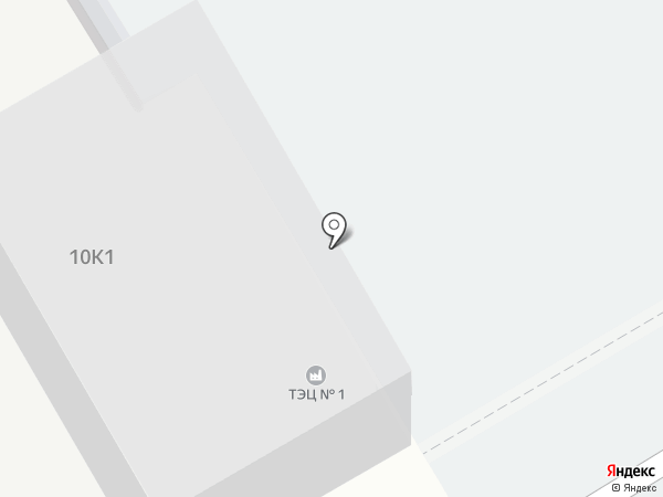 Новокуйбышевская ТЭЦ-1 на карте Новокуйбышевска