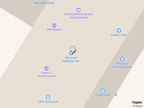 Фелица на карте Новокуйбышевска