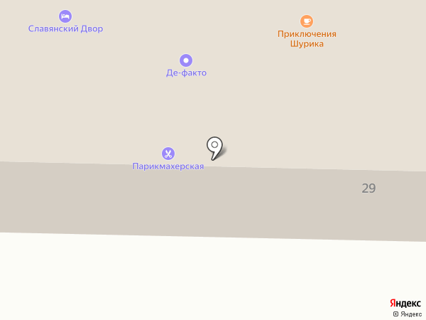 Славянский двор на карте Верхней Подстепновки