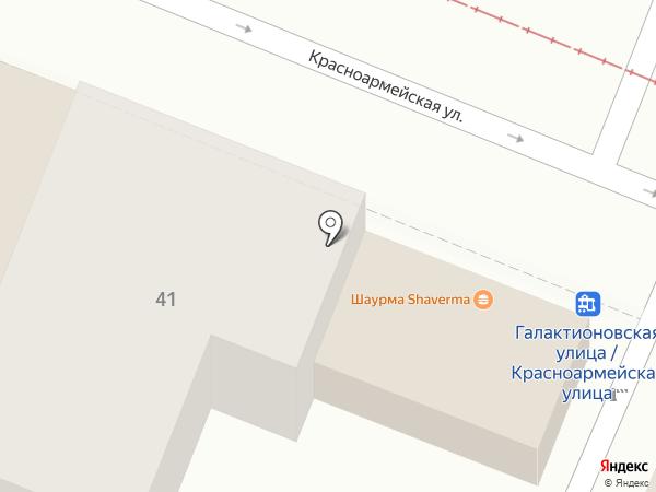 Магазин фруктов и овощей на карте Самары