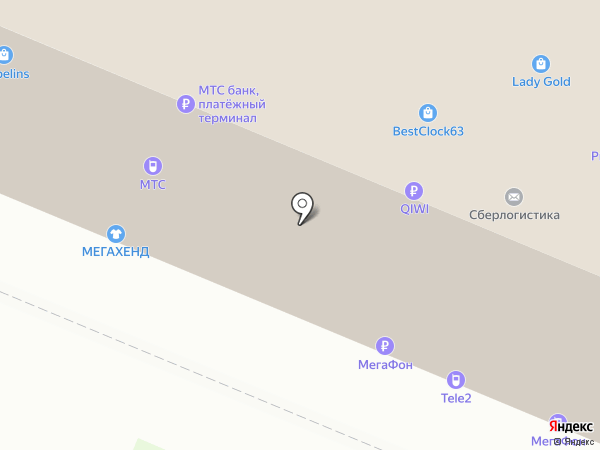 Магазин хрусталя и гобелена на карте Самары