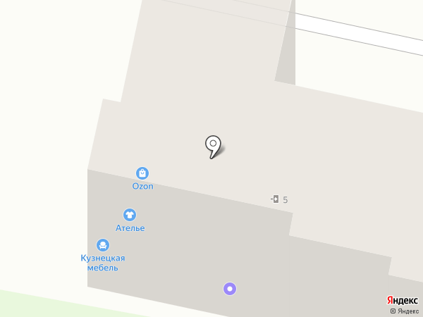 Магазин дверей и мебели на карте Придорожного