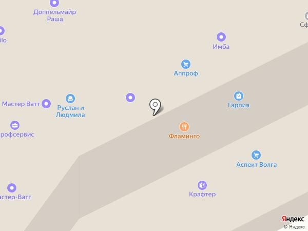 Окошкин дом на карте Самары